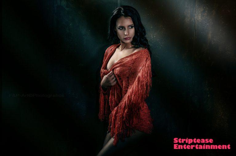 Red cape   Striptease Entertainment